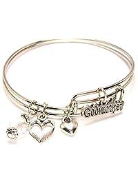 Godmother Adjustable Wire Bangle Bracelet