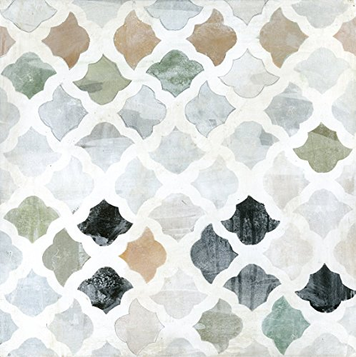 Art Effects Turkish Tile II Wrapped Canvas, Green/Gray/Tan by Art Effects, Inc