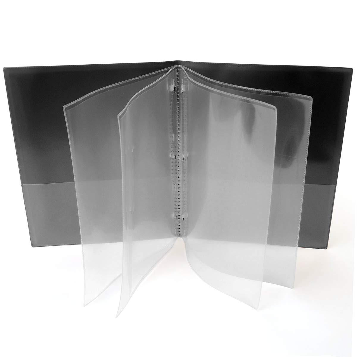 StoreSMART - Plastic Multi-Pocket Folders - Black - Four-Page - 25 Pack - ZR8006-BK-25 by STORE SMART