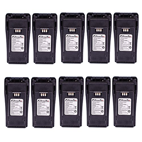 - 10 Pack Maxtop AMCL4970-1800-D NNTN4970 Replacement Li-ion 1800mAh Slim Battery for Motorola CP200 CP200XLS CP200D