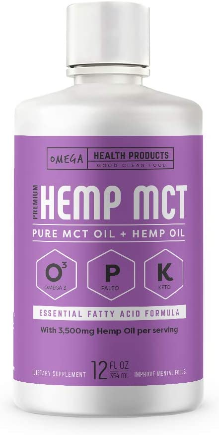 Hemp MCT Oil - The Perfect Keto Diet Supplement for Coffee, Salad, & Shakes - Energy & Brain Fuel for Weight Loss - 24 Servings (12 oz)