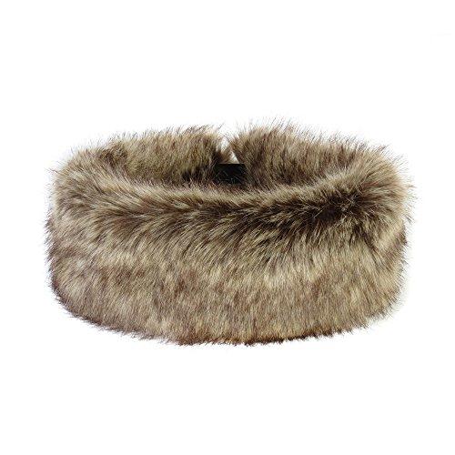 (THS Ladies Elasticated Faux Fur Headband (Truffle))