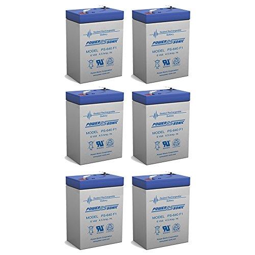 Exit Sign Battery 6V 4.5Ah backup - 6 Pack