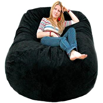 Amazon Com Cozy Sack 6 Feet Bean Bag Chair Large Black
