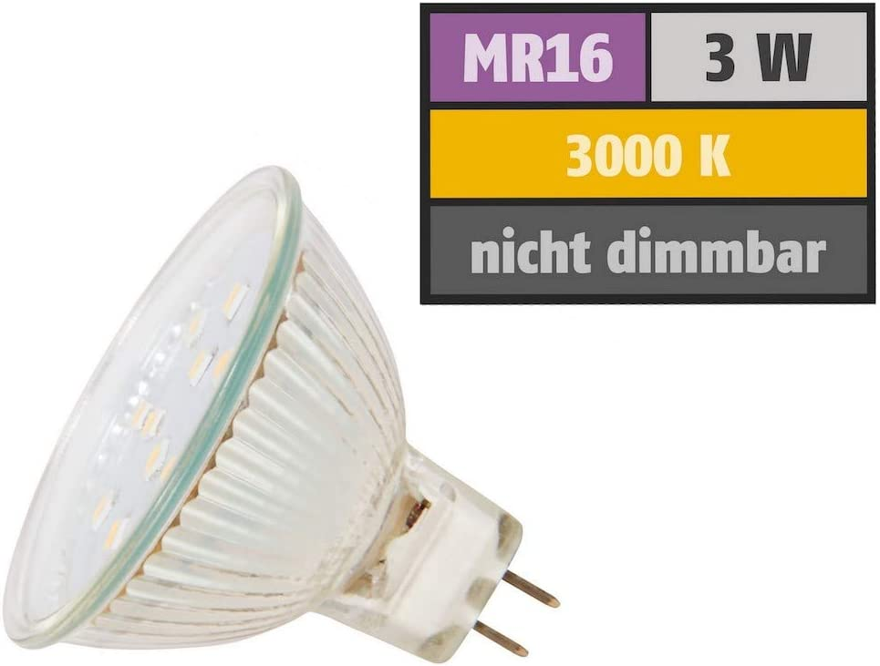1 x 3W SMD LM Farbe BiColor IP44 LED Einbauleuchte Neptun Eckig 3000K Deckenspot LED Bad Einbaustrahler 12V inkl