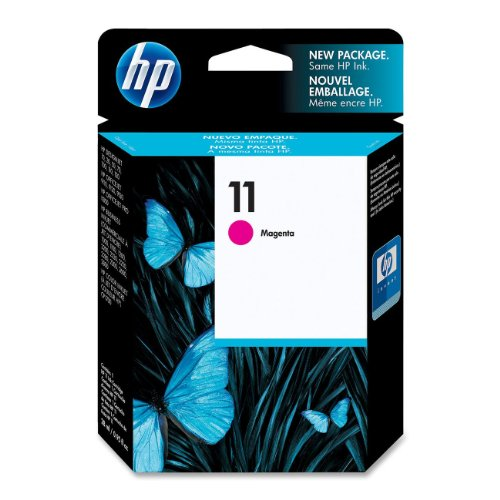 HP 11 Magenta Ink Cartridge (C4837A) for HP Business Inkjet 1000 1100 1200 2300 2600 2800 HP DesignJet 100 110 HP OfficeJet 9110 9120 9130 OfficeJet Pro K850 HP Color Inkjet cp1700