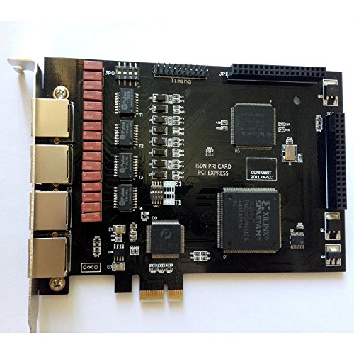 Quad Span ISDN Pri Card,T1 Card E1 Card with 4 E1/T1 Ports,PCI-E Connector,Supports Elastix FreePbx For VoIP PABX Telephone Appliance Asterisk Pbx Appliance