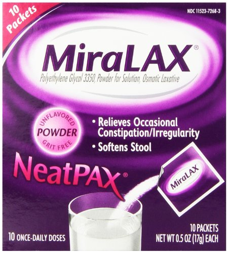 MiraLAX Single Dose Sachets, 10 Count