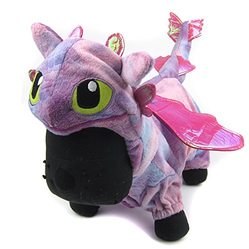 Alfie Pet - Night Fury Dragon Costume - Color: Pink, Size: Large -