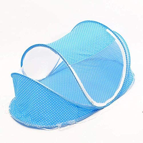 IUYJVR Mosquito Net Foldable FoldingBed Curtain Canopy Netting Mosquito Net Lightweight Travel Bed Pop Up Mosquito NetPad forBlue
