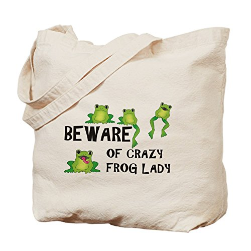CafePress - Beware Of Crazy Frog Lady - Tote Bag by CafePress