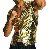 Rubie's Costume Co Men's Old School Adult Gold Costume Vest
