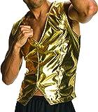 #4: Rubie's Costume Co Men's Old School Adult Gold Costume Vest