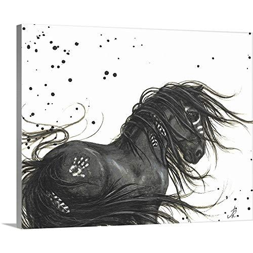 Majestic Friesian Horse Canvas Wall Art Print, - Horse Friesian Art