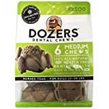 Dozers Horned Toad Dental Dog Chews - 100% All Natural Ingredients - Gluten Free Dental Healthy Delicious Dog Treat - Promotes Fresh Breath (Medium, 1 Bag)