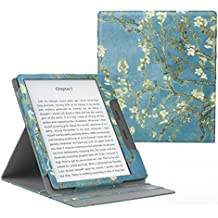 "MoKo Case for All-New Kindle Oasis (9th Generation, 2017 Release ONLY) - Multi Angle Viewing Vertical Flip Cover with Auto Wake / Sleep for Amazon 7"" Kindle Oasis E-reader Case, Almond Blossom"