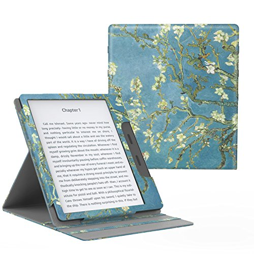 MoKo Case for All-New Kindle Oasis (9th Generation, 2017 Release ONLY) - Multi Angle Viewing Vertical Flip Cover with Auto Wake / Sleep for Amazon 7