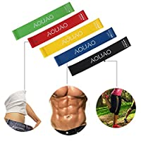 Resistance Bands Exercise - Set of 5, 12-inch Workout Bands - 100% Natural Latex !