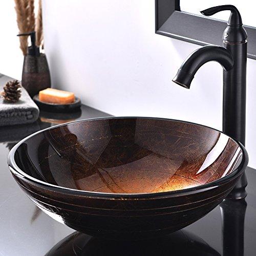 Bathroom Vanity Tempered Glass Vessel (Hotis Modern 16