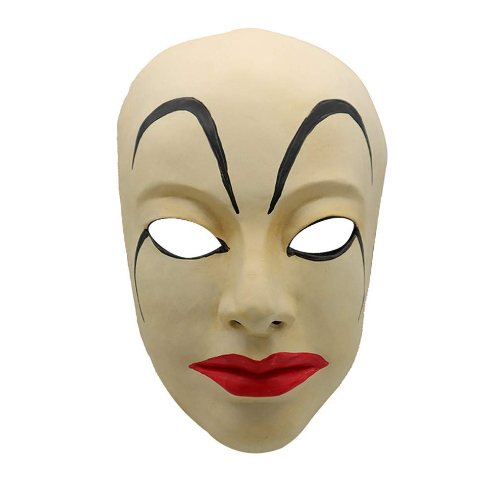 Scary Props Relaxed Realistic Masks Cosplay Costume Halloween Dress Ghost Horror