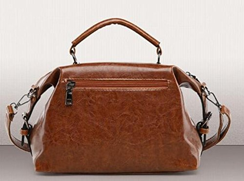 Fashion Bag Bag Shoulder Brown Wax Wild Messenger Fashion Wild Leather Yqcd1W