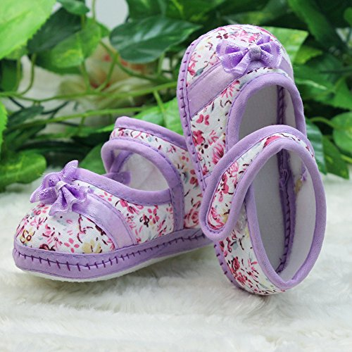 Baby Kinder Schuhe Krabbelschuhe mit Schleife Blumen F. 9-12 Monate Baby Neu
