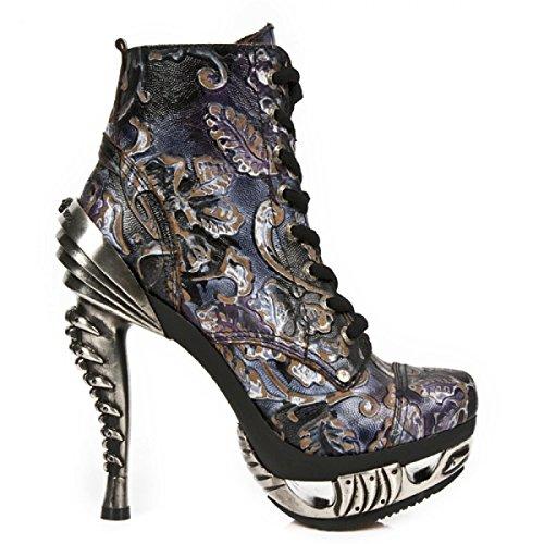 Nuovi Stivali Di Roccia M.mag016-c19 Gotico Hardrock Punk Damen Stiefelette Lila