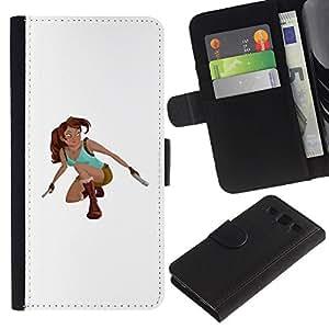 ZCell / Samsung Galaxy S3 III I9300 / Superhero Raider Pc Game Character / Caso Shell Armor Funda Case Cover Wallet / Superhéroe Raider Pc