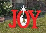 Front Yard Originals Outdoor RED Joy Nativity Display