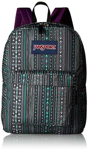 JanSport Superbreak Back Pack Seafoam Green Camo Stripe One Size by JanSport (Image #1)