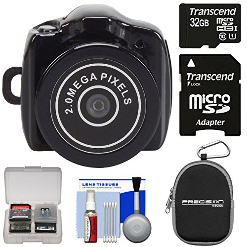 Super Mini Y2000 Digital Video Camera Camcorder - The World's Smallest Camcorder - with 32GB Card + Case + Kit