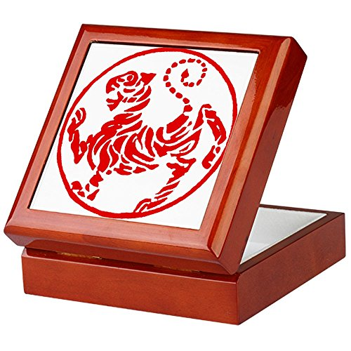 - CafePress - Shotokan Red Tiger - Keepsake Box, Finished Hardwood Jewelry Box, Velvet Lined Memento Box