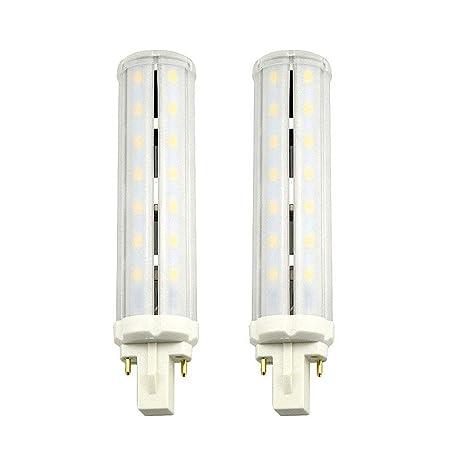 LuxVista 2-packs 2-Pin 13W G24 LED Bombilla de Luz Fría 6000k Con