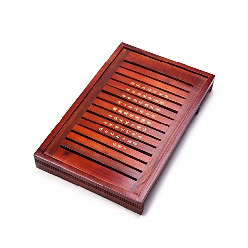 Solid Wood Reservoir & Drainage Type Kung Fu GongFu Tea Table Serving Tray L18.03