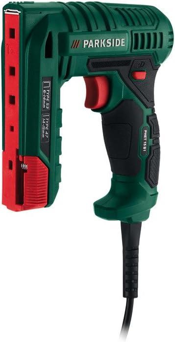 Clavadora/grapadora eléctrica Parkside PHET 15 B1, compatible con accesorios estándar cuando necesita recargar clavos y grapas. Áreas de uso: decoración, manualidades o hogar. Longitud del cable: 3 m