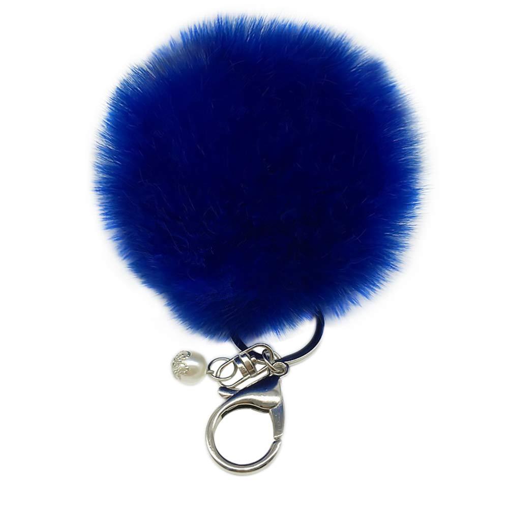 Qinlee Pompons Porte-cl/és Forme Boule de Cheveux Bijou de Sac /à Main D/écor Pendentif Sac /à Main Cr/éatif D/écoration en Peluche 8CM #2