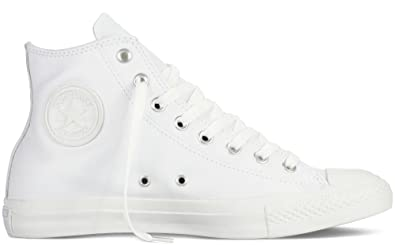 converse leather high tops. converse unisex-adult chuck taylor all star core leather hi-top trainers, white high tops n