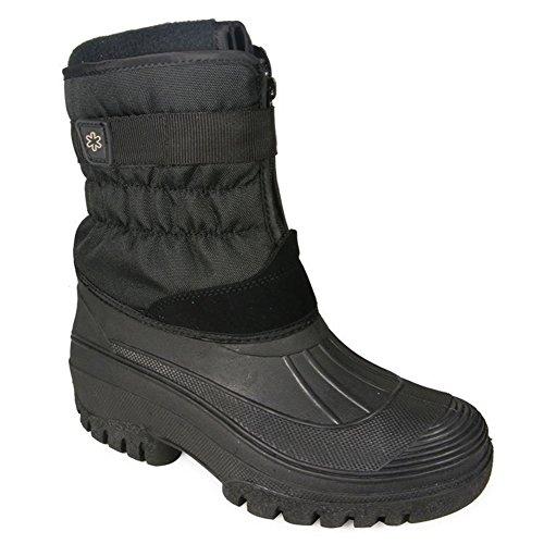 Snow Padded Ladies Mens UK Wellington Boots Rain 11 Black Size 3 Sole Fleece Waterproof Mucker Lined Rqw4w1XU
