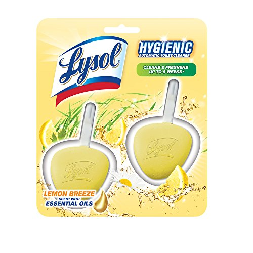 Lysol Hygienic Automatic Toilet Bowl Cleaner, Lemon Breeze, 2ct