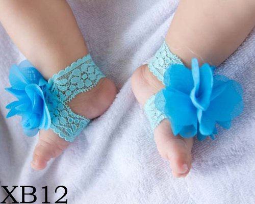 BONAMART ® Nette Baby Infant Mädchen Barfuß Blume Sock Sandalen Schuhe Toe Blooms NEU XB12