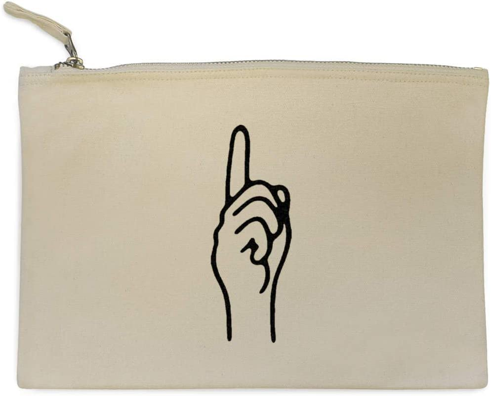 Accessory Case Pointing Finger Canvas Clutch Bag CL00012050