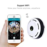 360 Degree Panoramic Fisheye IP Camera 3D VR 960P HD Phone/Mobile Remote Wireless WiFi Wide-Angle Fish Eye Surveillance Camera Night Vision Motion Alert Day/Night Vision Wi-Fi Outdoor & Indoor Without Any Blind Area SW05