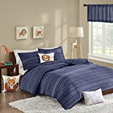 INKIVY Kids Oliver 200TC Coverlet Set Navy FullQueen