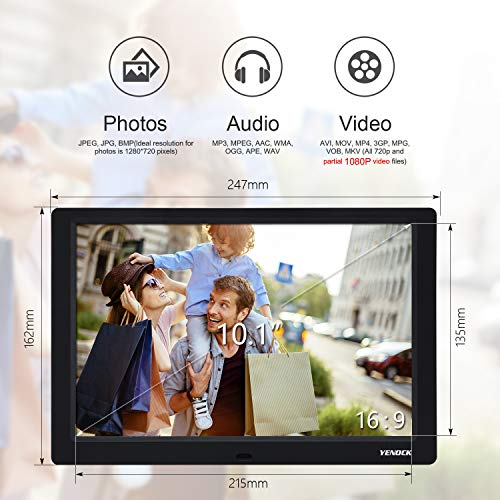YENOCK Digital Picture Frame, 10 1 Inch IPS Screen Digital