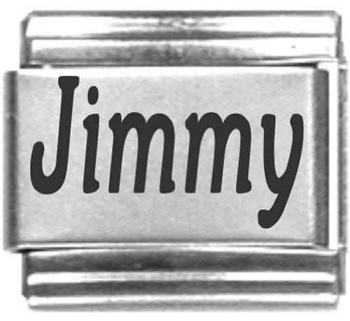 Jimmy Laser Name Italian Charm Link