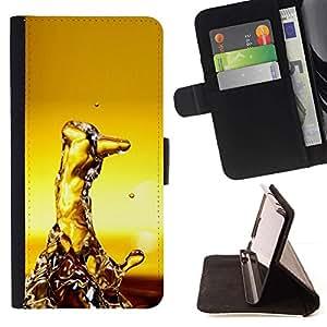 Momo Phone Case / Flip Funda de Cuero Case Cover - Agua Random Arte Moderno Estructura Amarillo - LG OPTIMUS L90