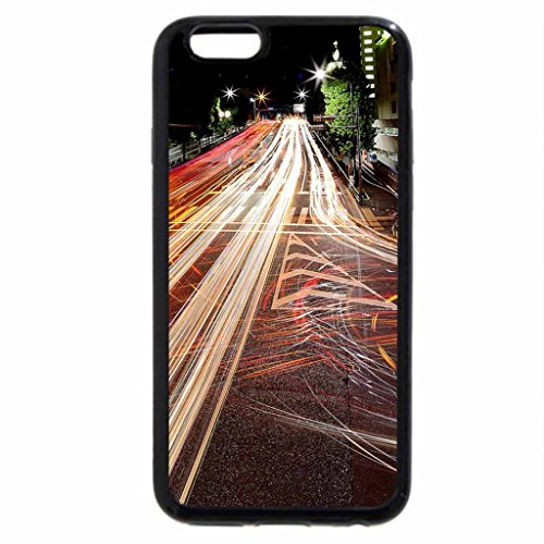 iPhone 6S / iPhone 6 Case (Black) CITY_NIGHT_ROAD_VIEW_FLOW_19