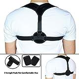 Care4U Posture Corrector, Adjustable Comfortable Back Brace,Upper Back Pain Relief Posture Shoulder Clavicle Support Strap for Women Men + 2 Armpit Pads