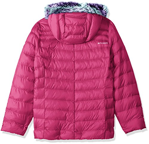 Hoody Spyder Raspberry Faux Girl's Jacket Down Timeless Fur wFrFRxqAI