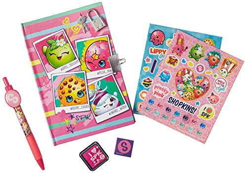 Shopkins Girls Diary With Pen, Lock, Key, Stamp and Stickers